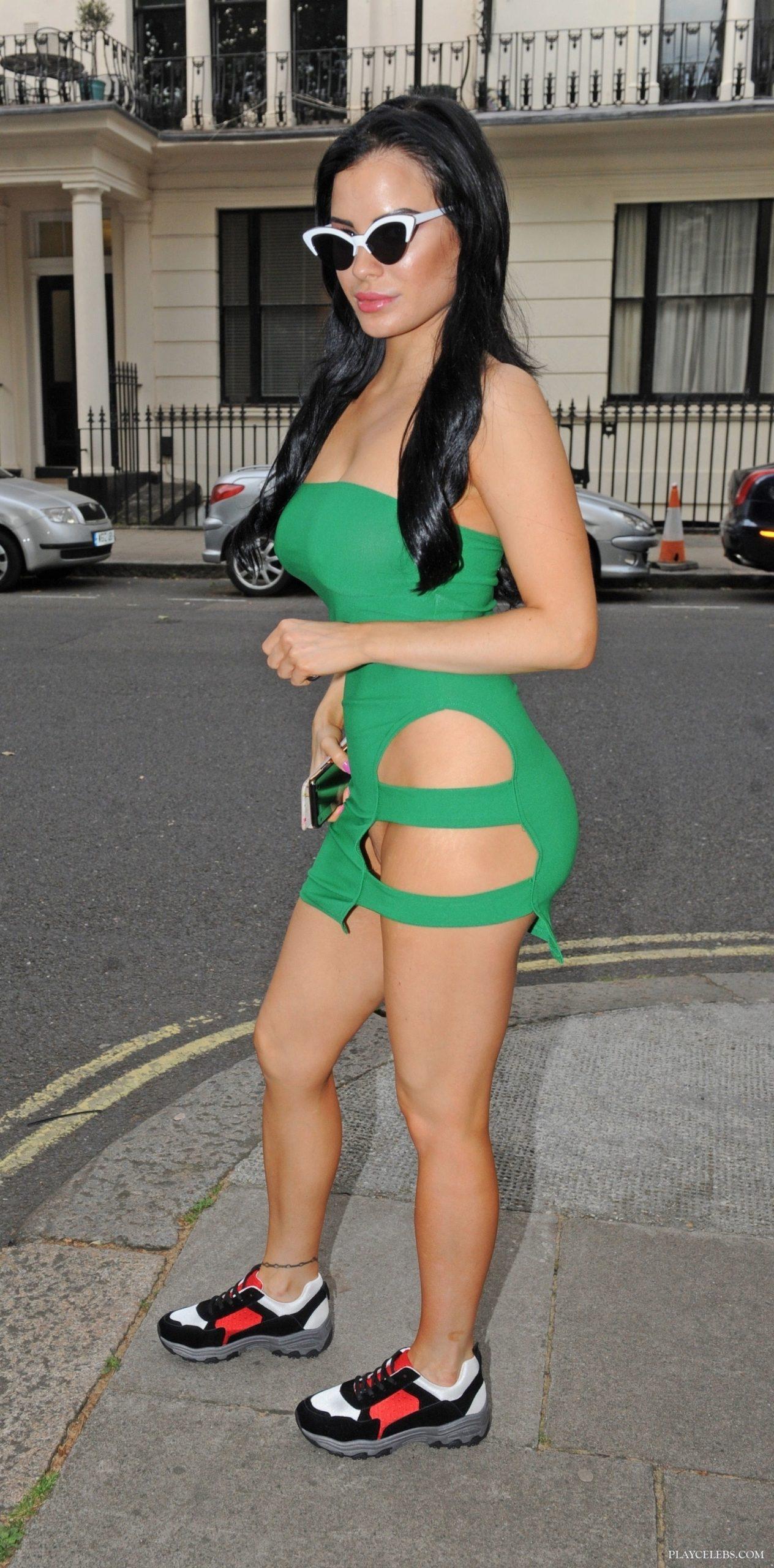 PlayBoy Star Carla Howe No Panties Outdoors