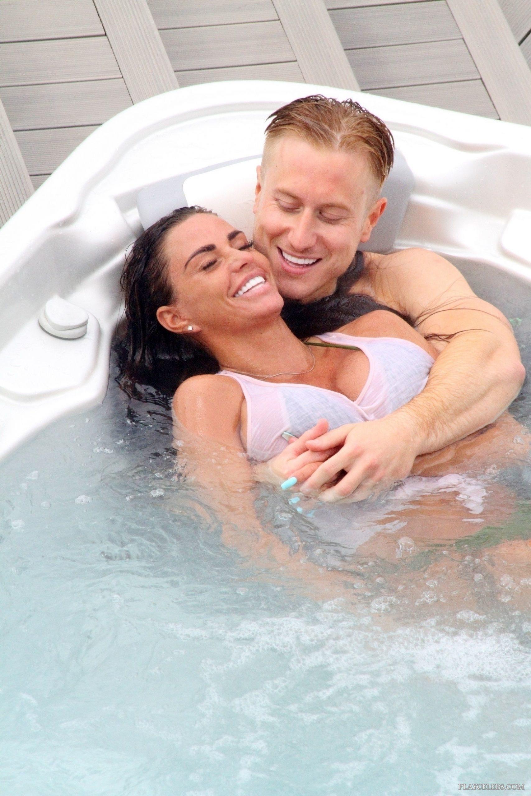 Katie Price Caught In Bikini With New Boyfriend In A Jacuzzi