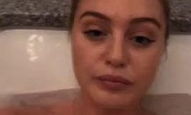 Iskra Lawrence Topless In A Bath Selfie Video