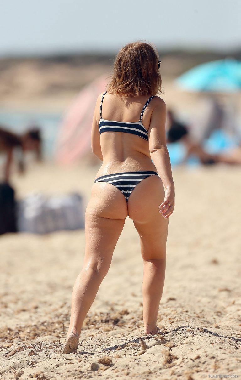Tanya Burr Paparazzi Thong Bikini Shots