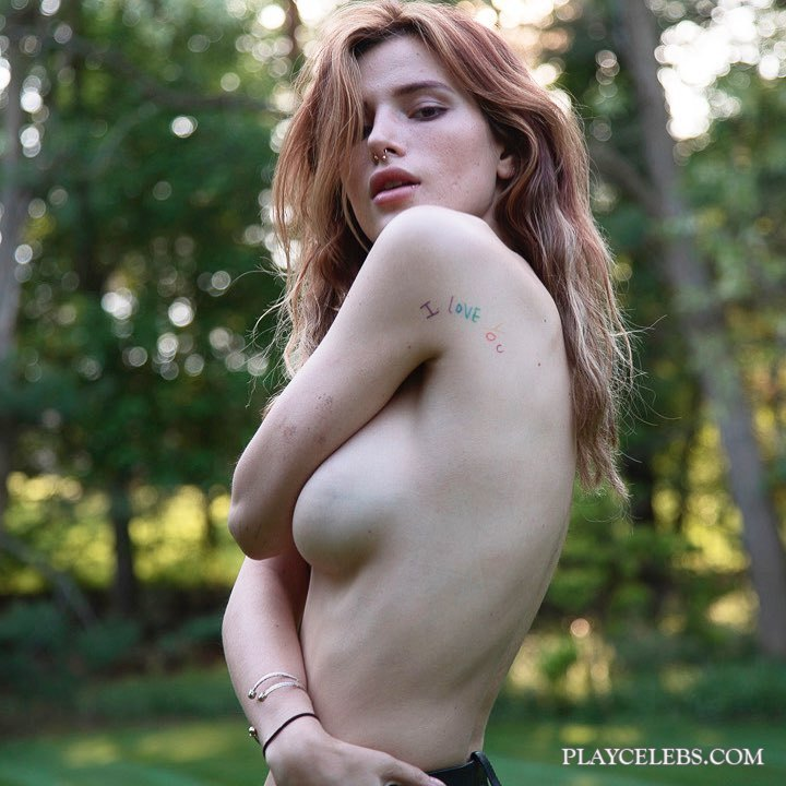 Bella Thorne Topless And Sexy