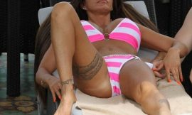Katie Price Topless And Bikini Cameltoe Shots