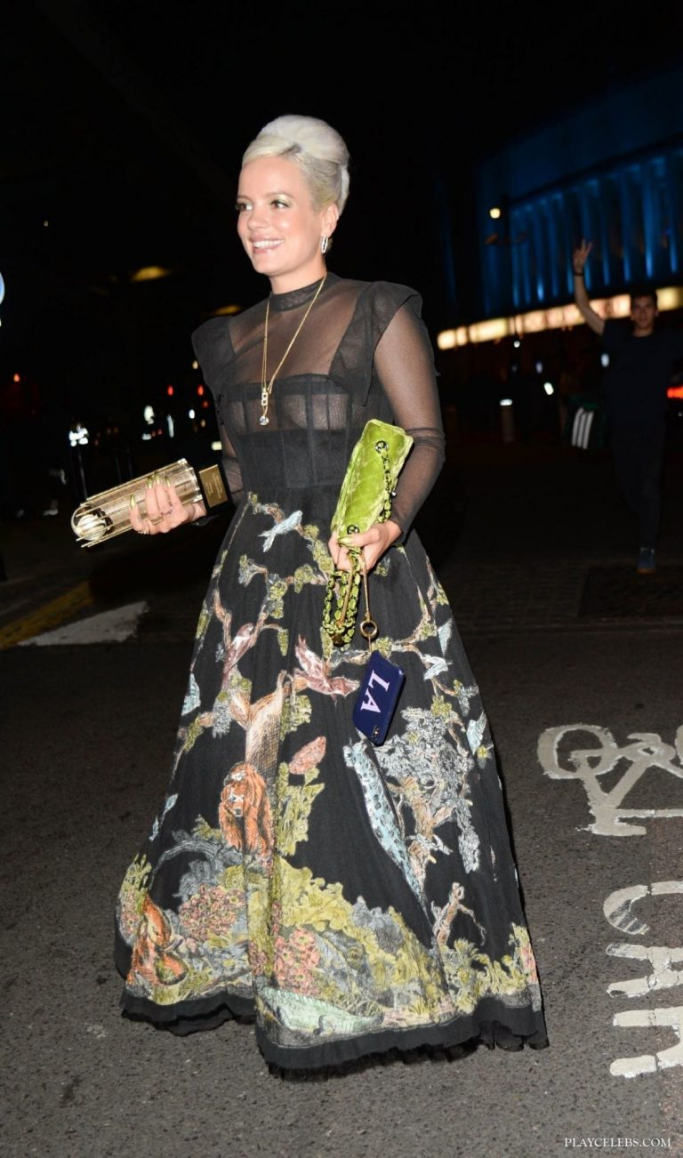 Lily Allen See Through In London