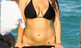 Ashley Graham Paparazzi Sexy See Through Beach Photos