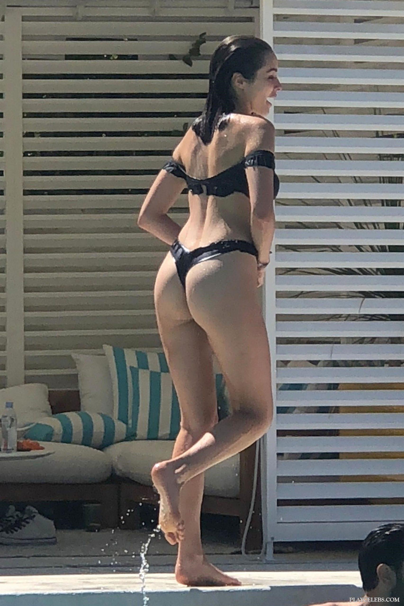 Olivia Culpo & Cara Santana Relaxing In Sexy Thong Bikini