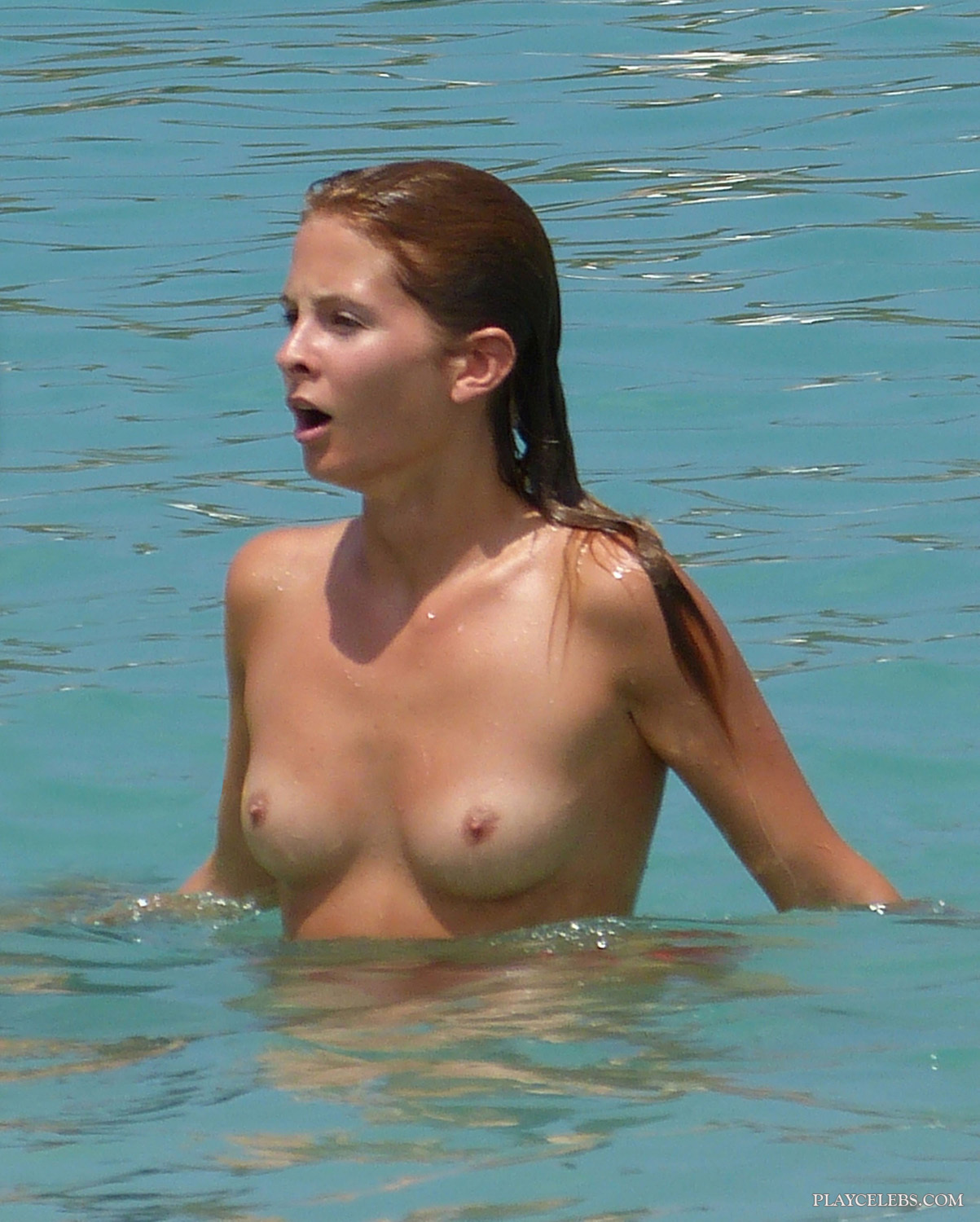 Millie Mackintosh Tanning Topless And Sexy Thong Bikini