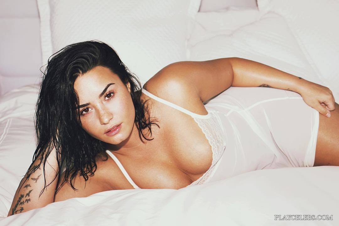 Demi Lovato Lingerie And Bikini Photos
