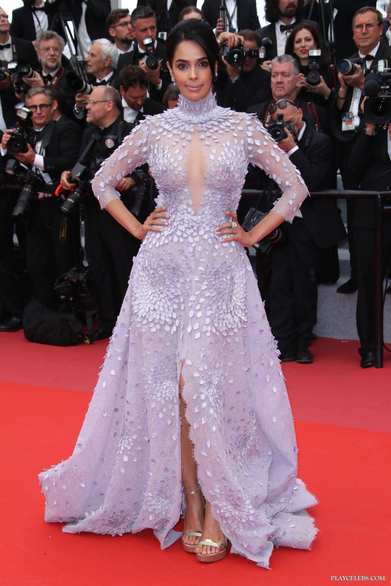Mallika Sherawat Flashing Her Tits Through Sexy Dress