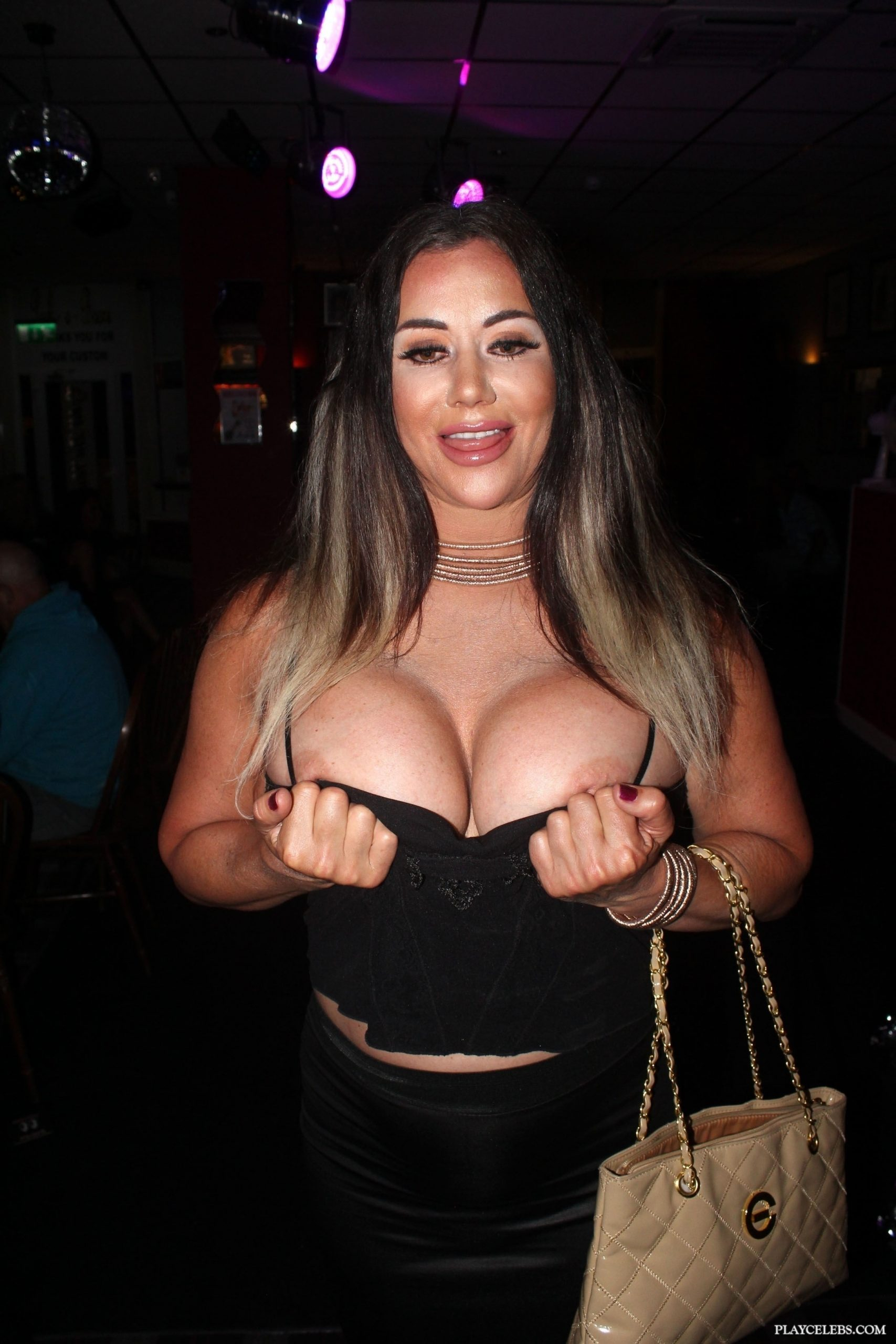 Lisa Appleton Topless In A Night Club