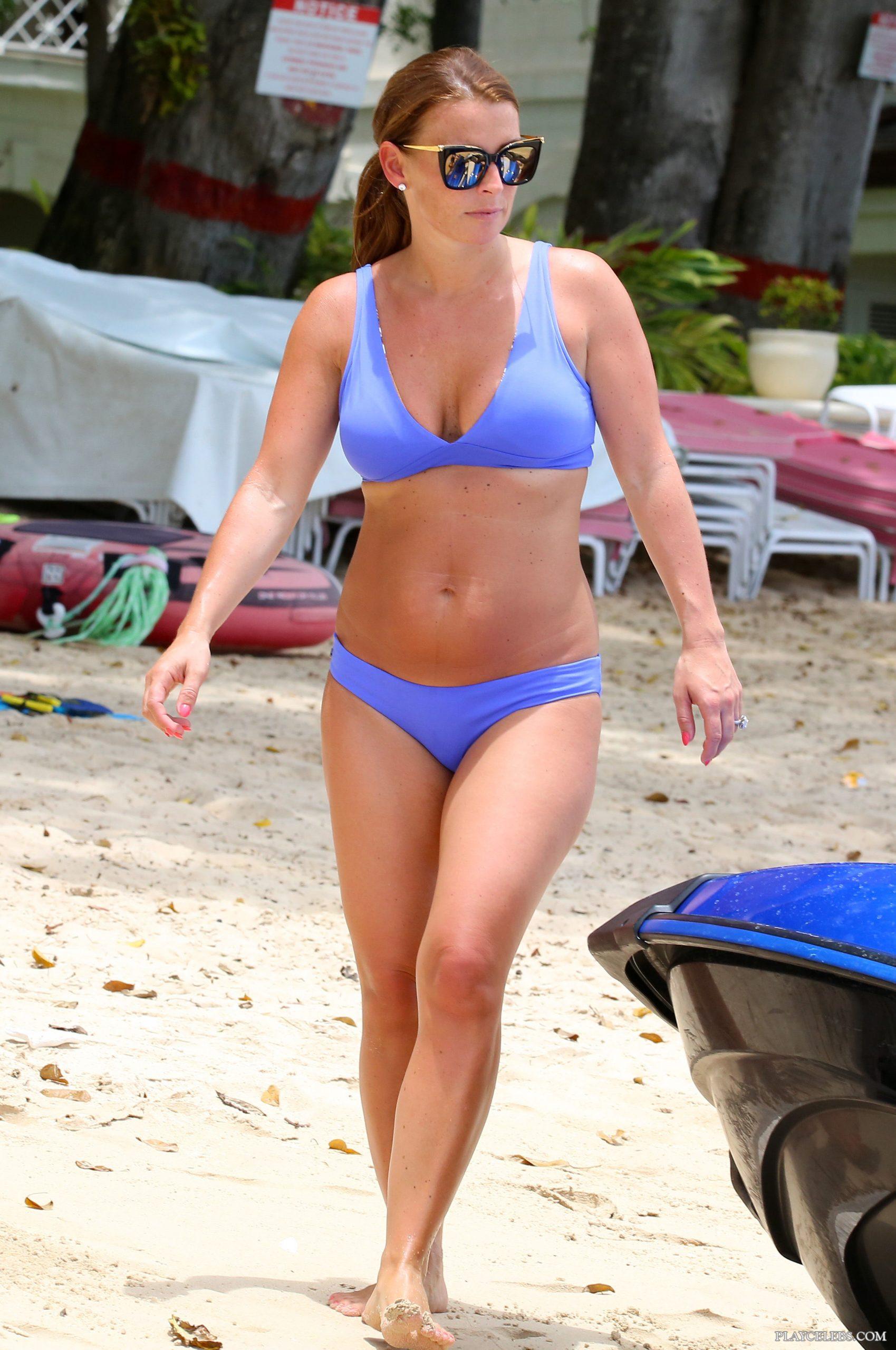 Coleen Rooney Papartazzi Bikini Beach Shots