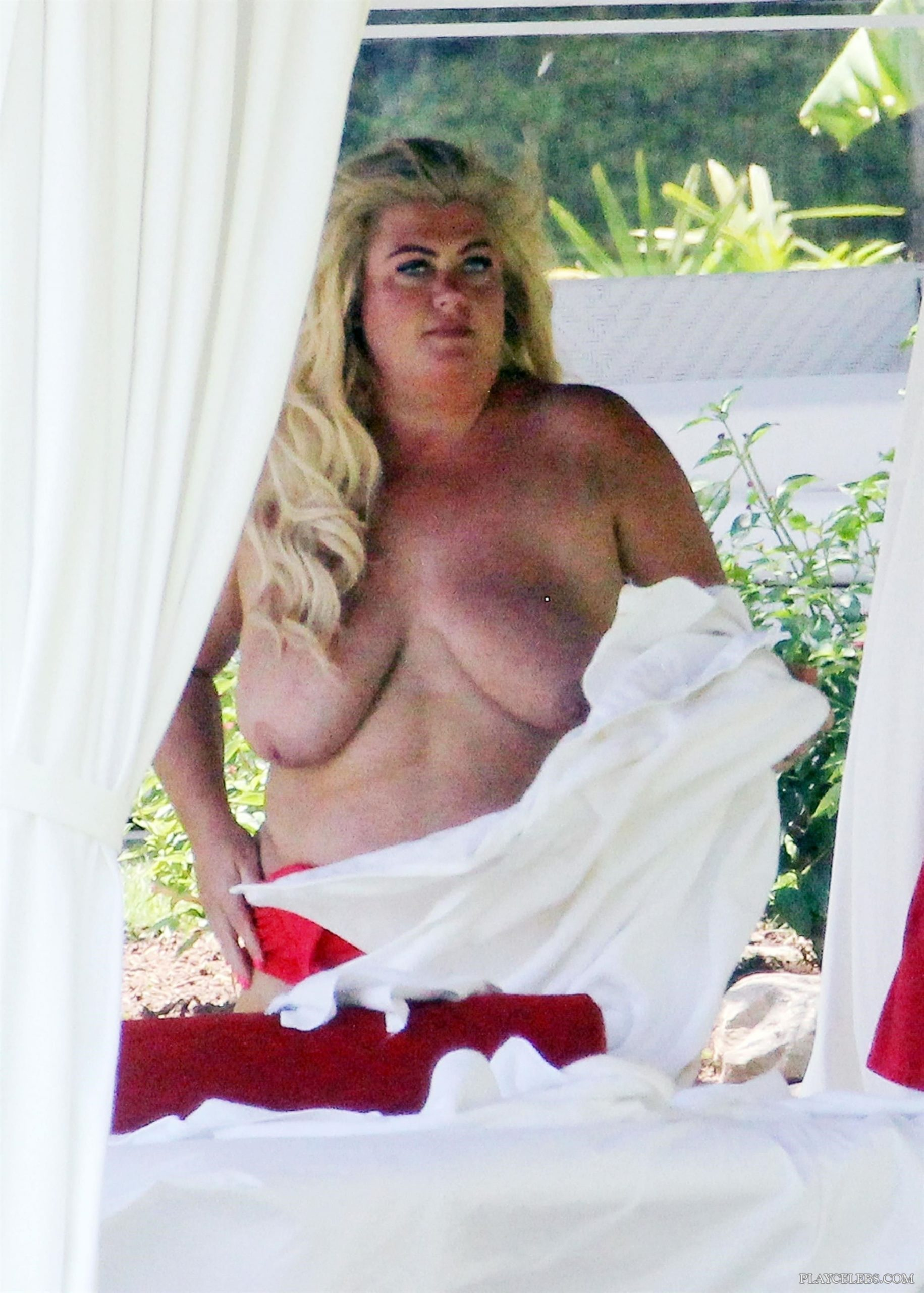 Holy Shit! Gemma Collins Topless On A Beach