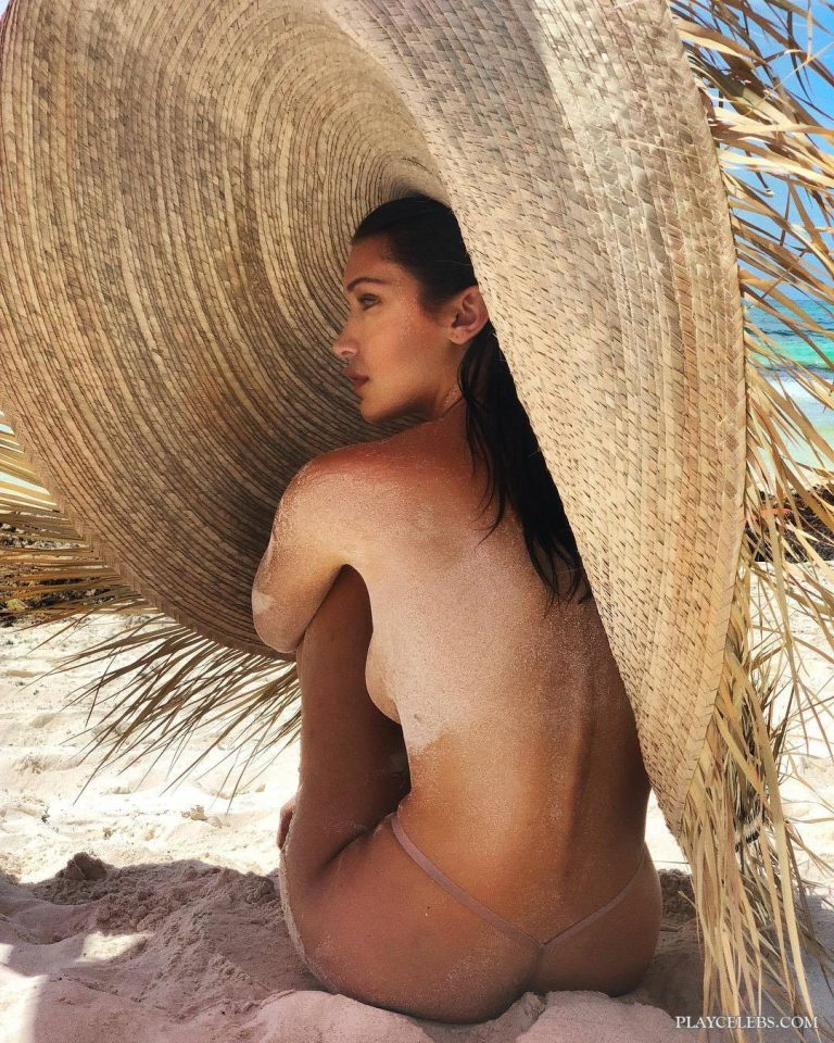 Hot Model Bella Hadid Swimsuit & Topless Photos