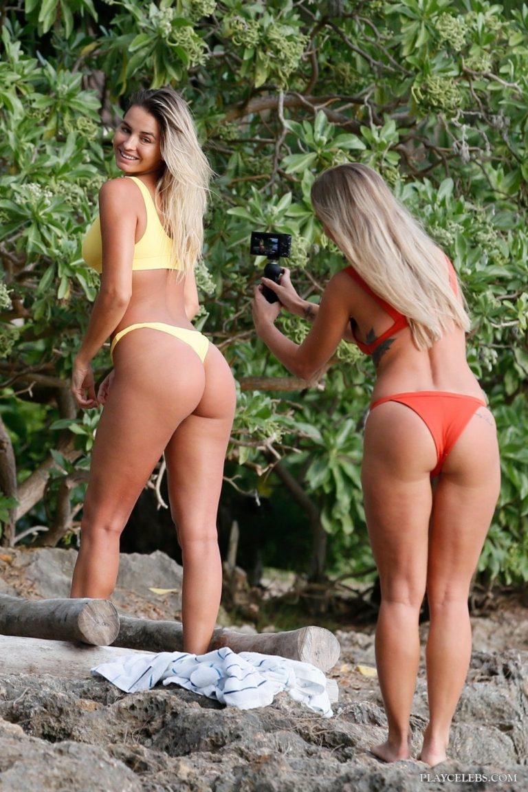 Madi Edwards & Ameila Jane Bikini Ass Photos