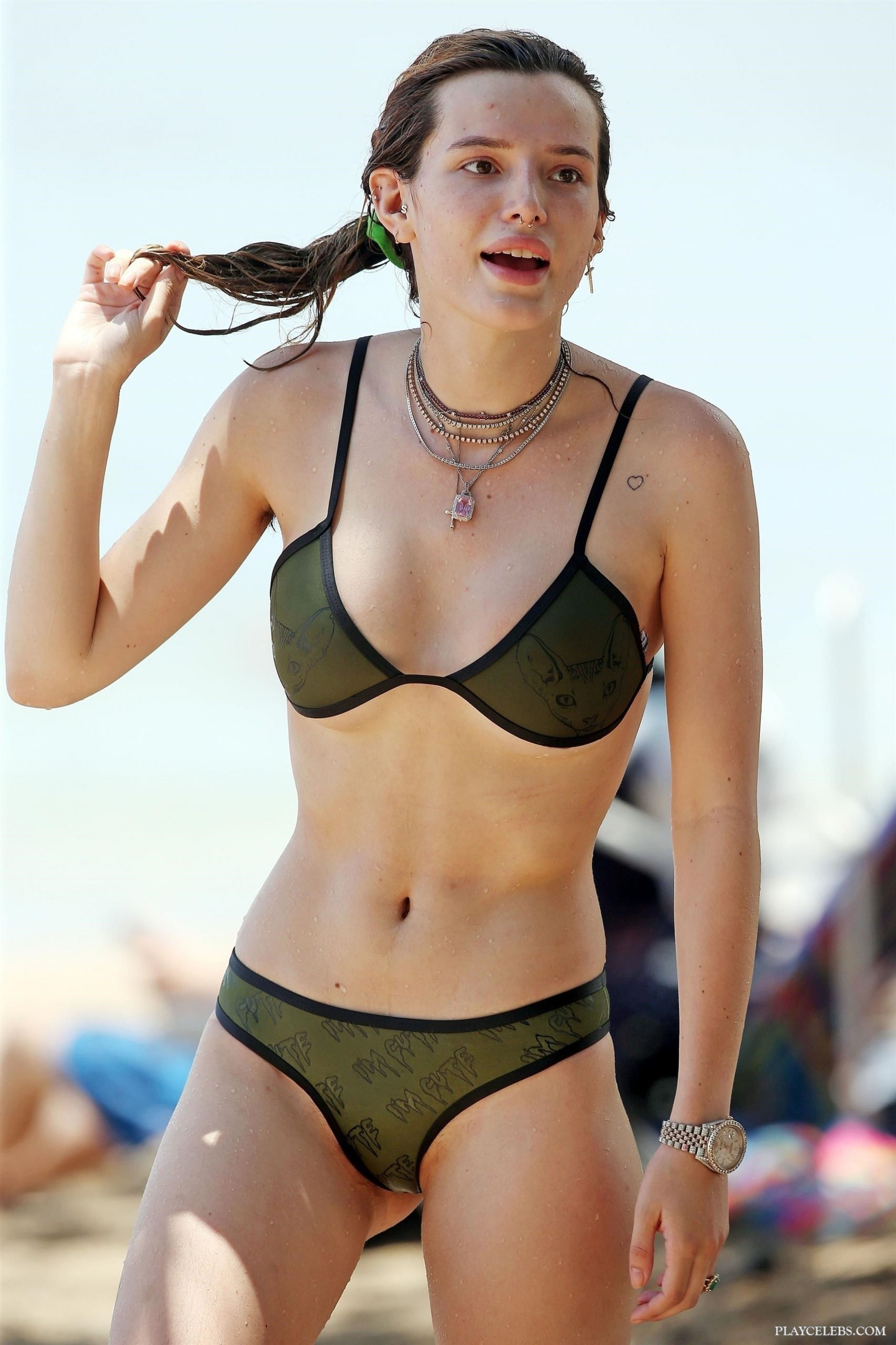 Bella Thorne Relaxing In Sexy Bikini With Friends On A Beach