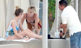 Ashley Benson & Cara Delevingne Caught By Paparazzi Tanning In Bikini