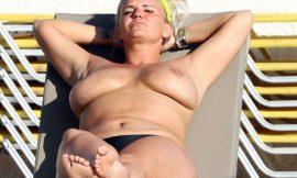 Kerry Katona Caught By Paparazzi Topless