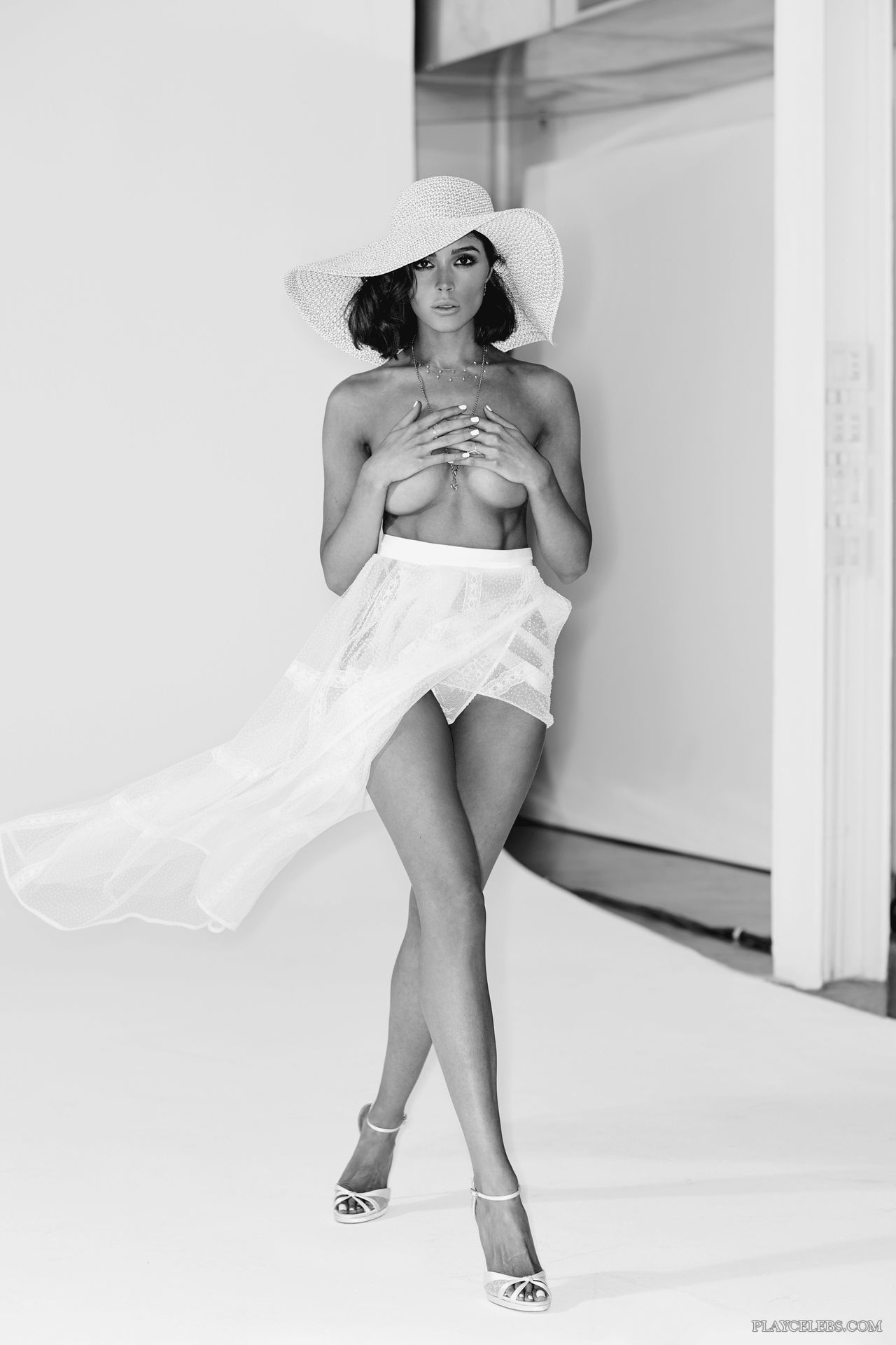 Olivia Culpo Nude And Sexy Lingerie B&W Photos