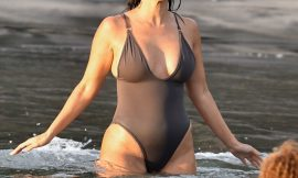 Kourtney Kardashian Paparazzi Swimsuit Beach Photos