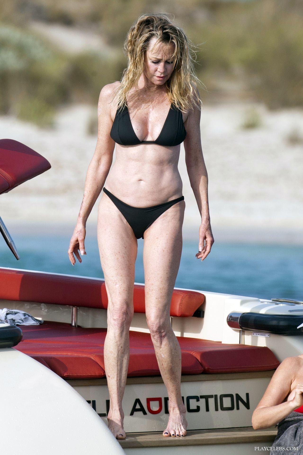 Melanie Griffith Caught By Paparazzi In Bikini On A Boach