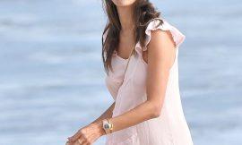 Alessandra Ambrosio See Through Beach Photos
