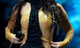 Tulisa Contostavlos See Through Latex Top On A Stage