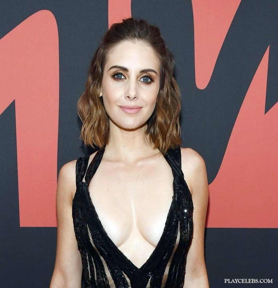 Alison Brie Shows Off Great Cleavage