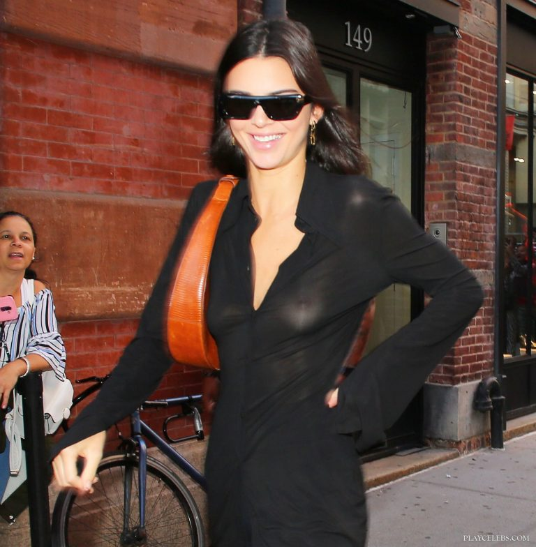 Kendall Jenner Sexy See Through Tits Photos