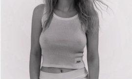 Dakota Fanning Posing In See Through Underwear For Magazine