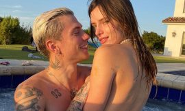 Bella Thorne Topless With Boyfriend In A Pool
