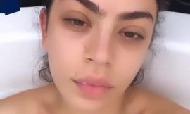 Charli XCX Topless Selfie Video