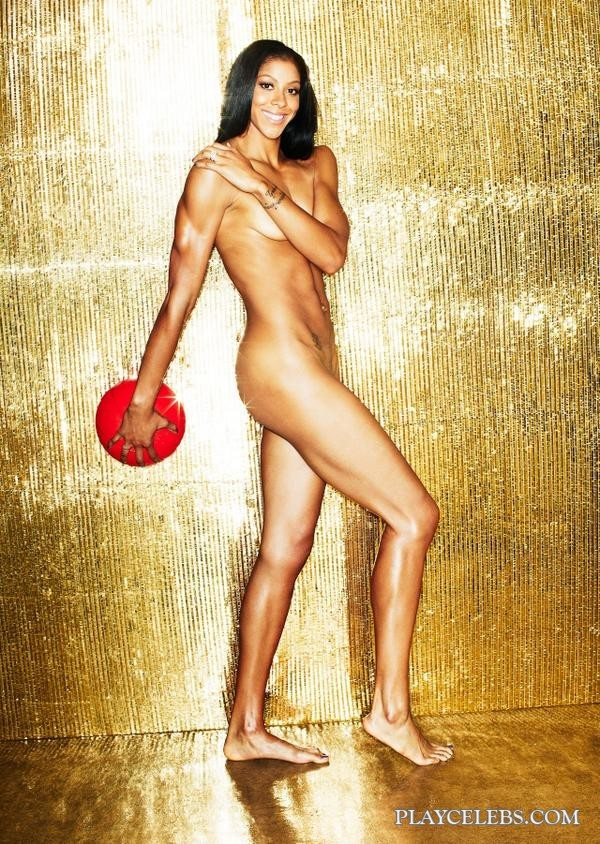 American Basketball Player Candace Parker Posing All Naked