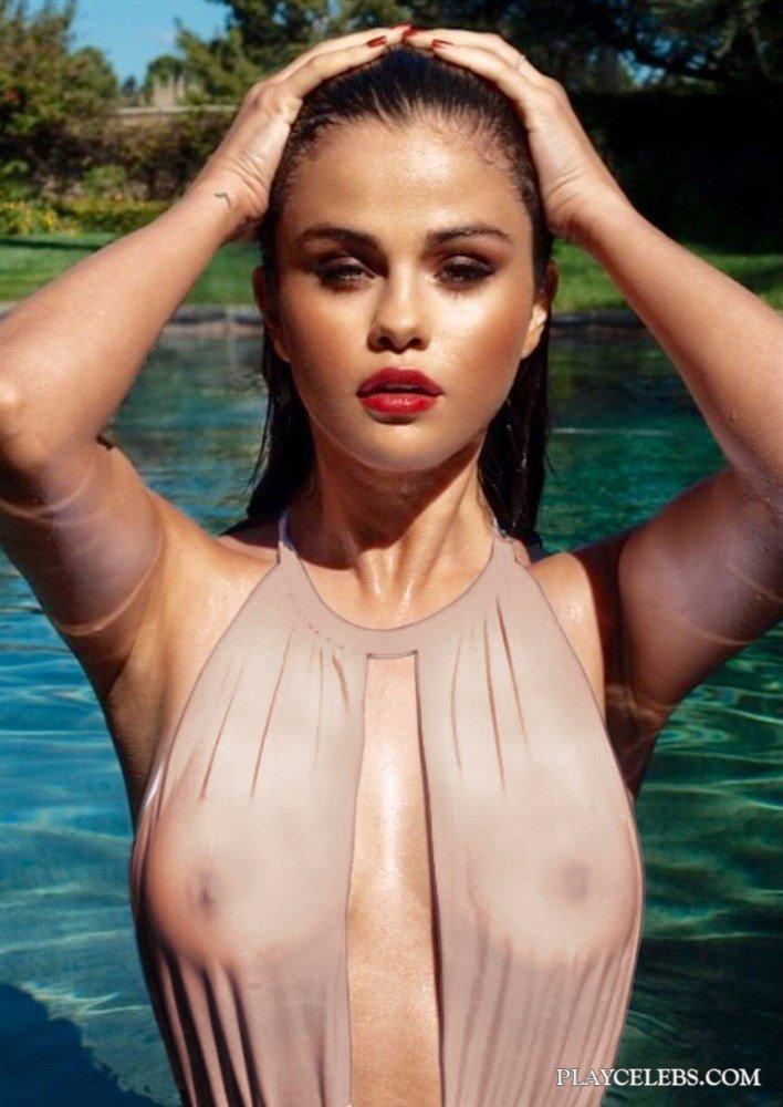 Selena Gomez Nude And Pink Bikini Photos