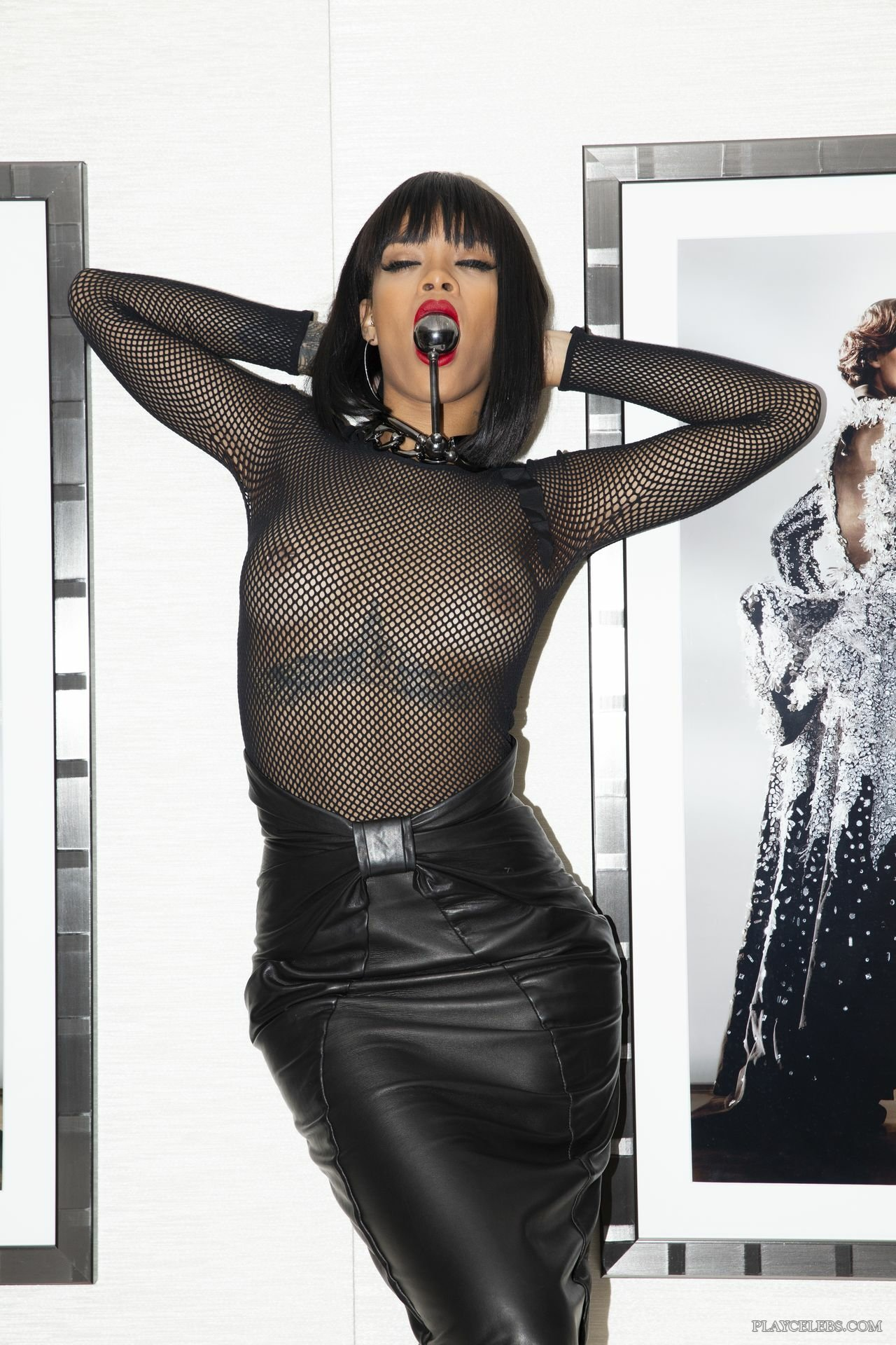 Rihanna Naked And See Through Photoshoot For Savage X Fenty, November 2019