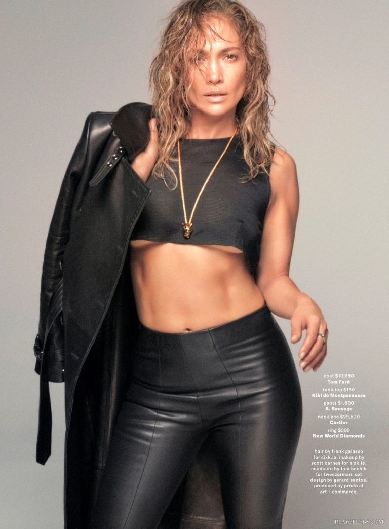 Jennifer Lopez See Through And Leather Dress Pics
