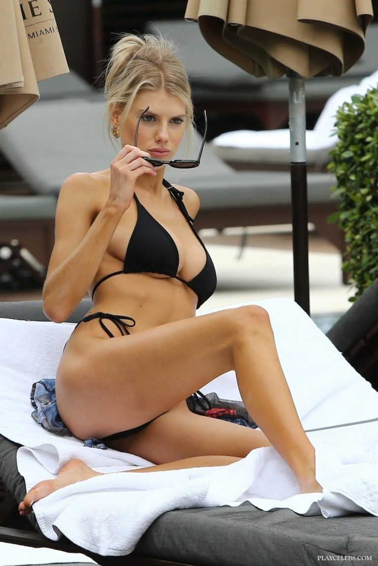 Busty Model Charlotte McKinney Wearing Tight Sexy Bikini