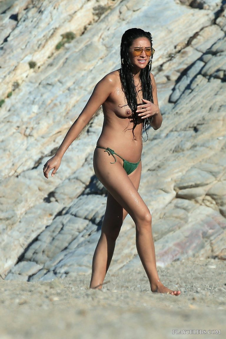 Shay Mitchell Caught By Paparazzi Topless On A Beach