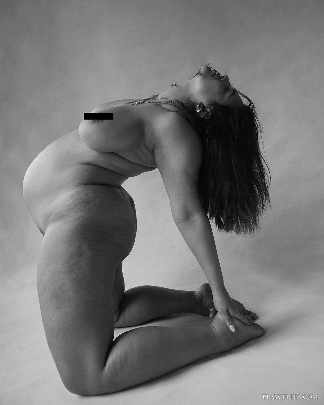 Ashley Graham Nude Black And White Photoshoot