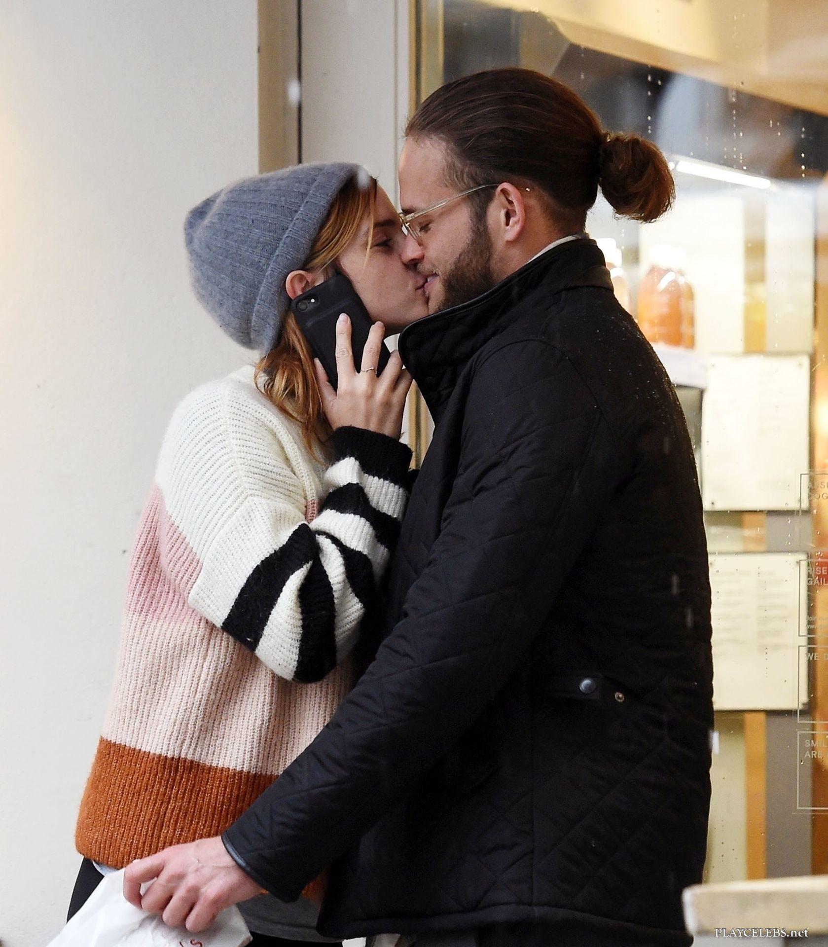 Emma Watson Hot French Kiss On Public