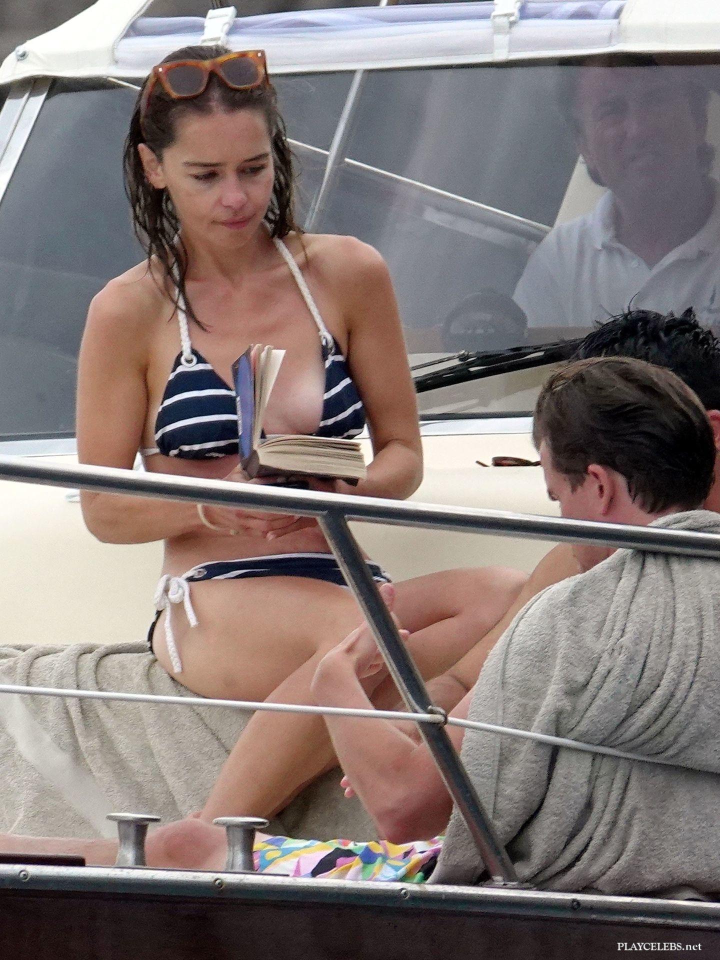 Emilia Clarke Paparazzi Skinny Body Bikini Photos