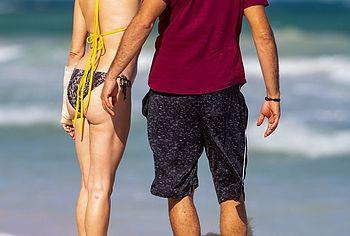 Rose McGowan nude beach