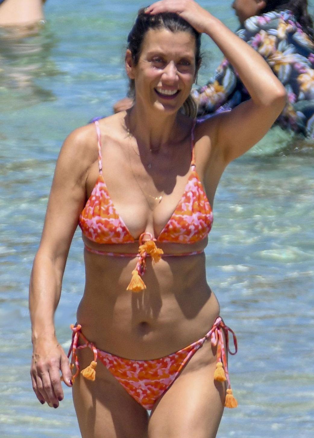 Kate Walsh Caught Tanning In Bikini On A Beach