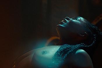 Yetide Badaki topless scenes