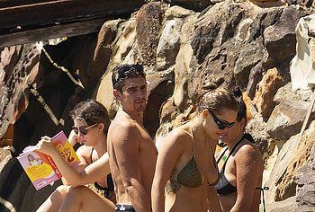 Rita Ora sunbathing