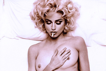 Madonna frontal nude