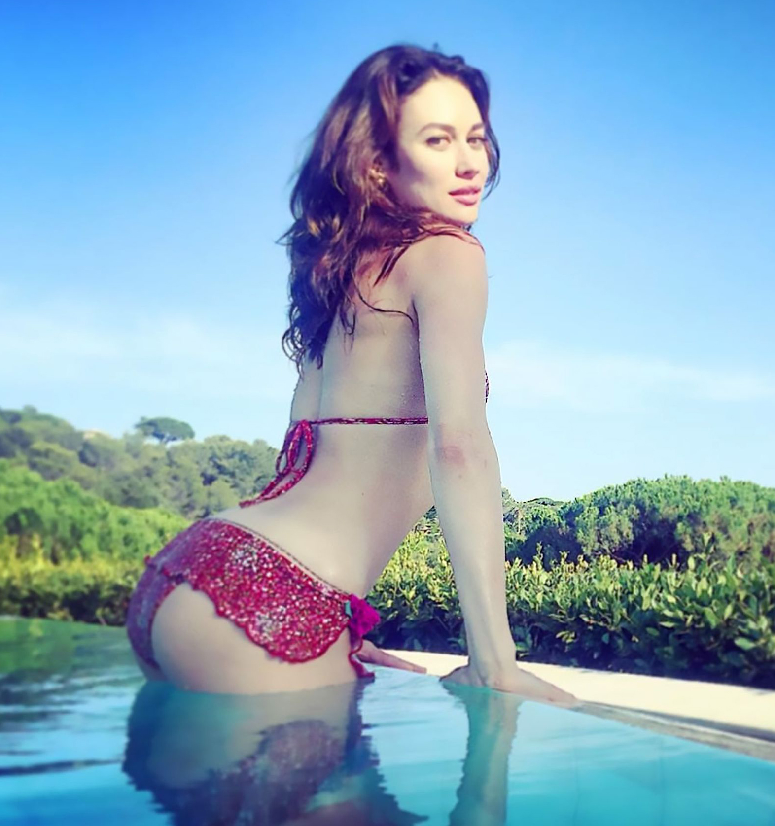 Olga Kurylenko Topless And Tiny Bikini Photos